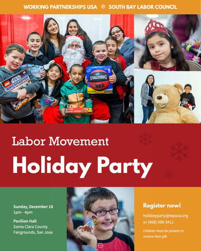 Labor Movement Holiday Party flyer