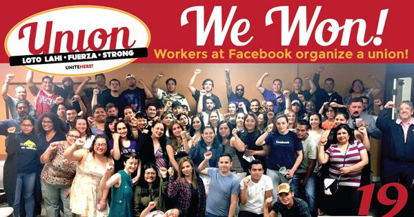 Cafeteria workers at Facebook organize